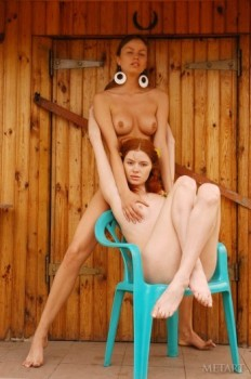 Fantastic redhead and her brunette girlfriend