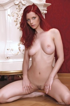 Wild redhead with splendid forms