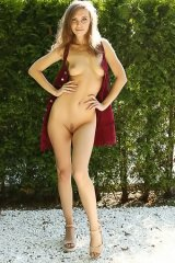Galina A Strips Nude In The Park